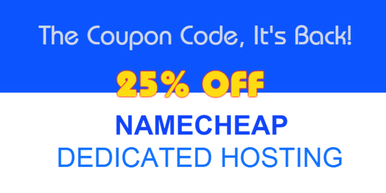 Namecheap hosting Coupon