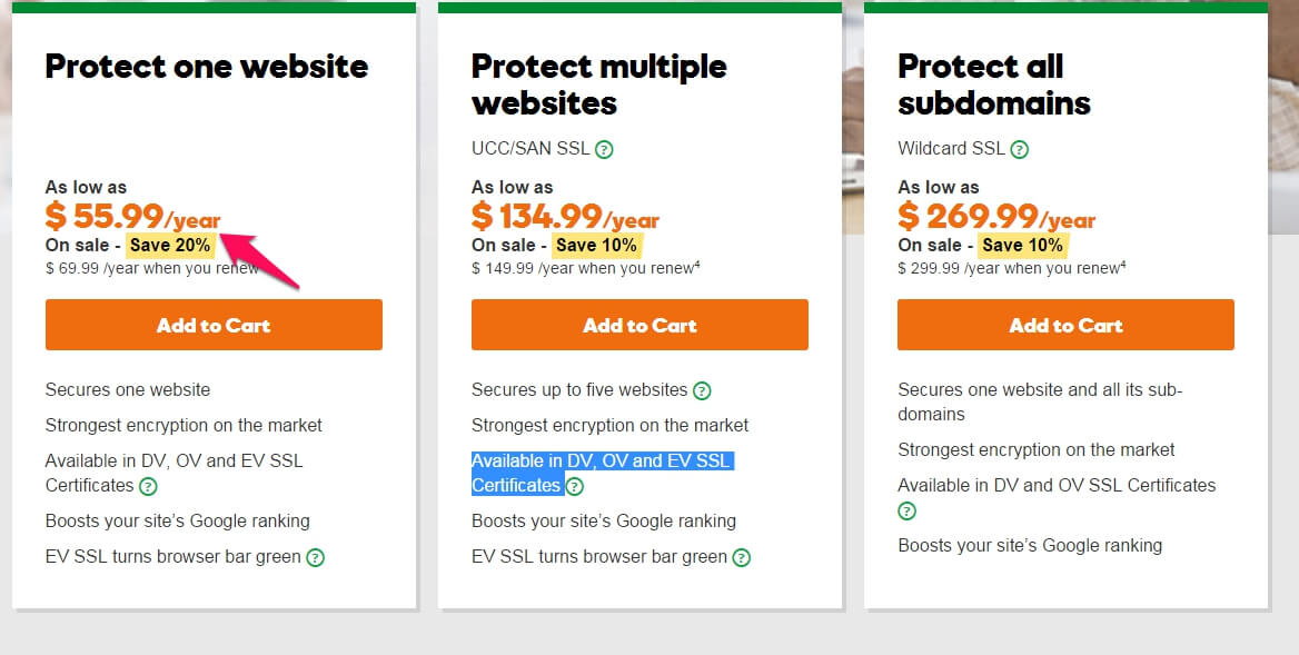 2018\'s October - 40% off Godaddy SSL Certificate Coupon&Promo