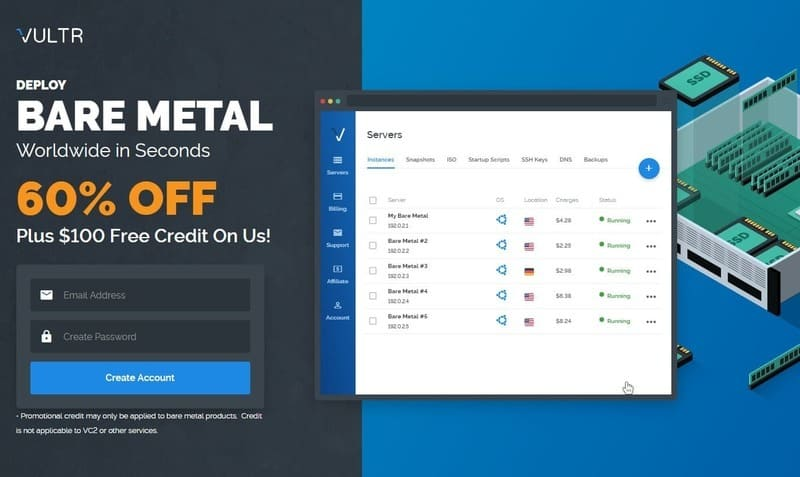 50% OFF Vultr Coupon Deploy New VPS Server, August 2019