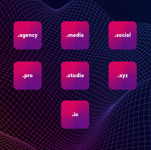 agency, .studio, .media, .social, .io, .pro, and .xyz Discount mediatemple