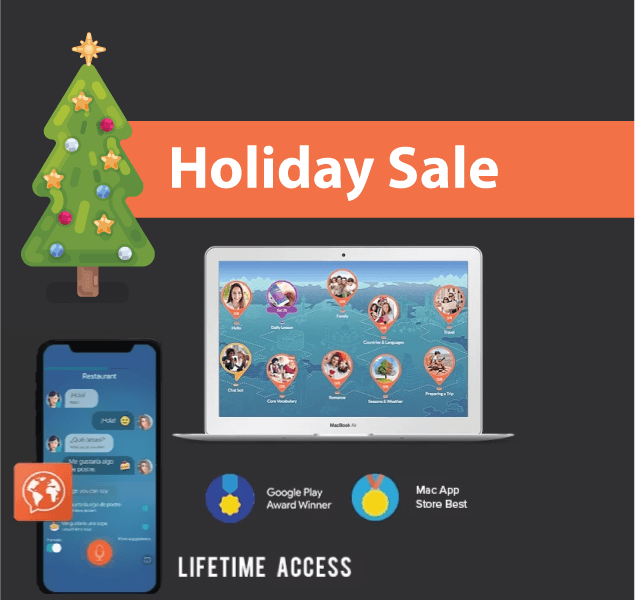Mondly xmas christmas 2018 sale, coupon lifetime subscription